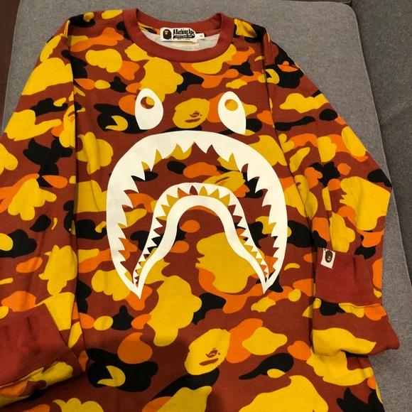 bf2cda27 Bape Shirts | Typemens1st Camo Shark Ls Tee Mens | Poshmark